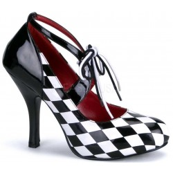 Harlequinn Black and White Checkered Pump LABEShops Home Decor, Fashion and Jewelry