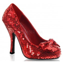 Oz Red Sequin High Heel Pump LABEShops Home Decor, Fashion and Jewelry