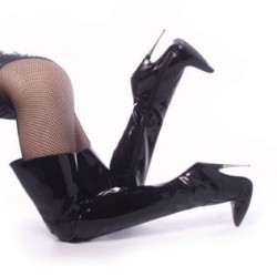 Thigh High Scream Fetish Boots with 6 Inch Heel