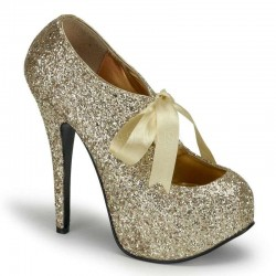 Teeze Gold Glittered Platform Pump LABEShops Home Decor, Fashion and Jewelry