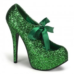 Teeze Green Glittered Platform Pump LABEShops Home Decor, Fashion and Jewelry