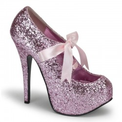 Teeze Baby Pink Glittered Platform Pump LABEShops Home Decor, Fashion and Jewelry