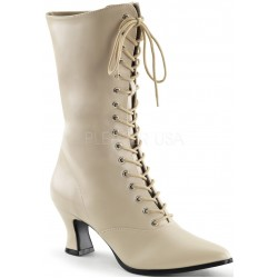 Cream Victorian Ankle Boot LABEShops Home Decor, Fashion and Jewelry