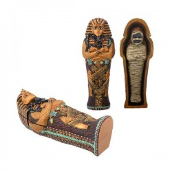 King Tut Small Coffin with Mummy