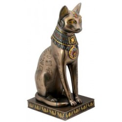 Bastet Bronze Hieroglyphic Cat Statue LABEShops Home Decor, Fashion and Jewelry Direct to You