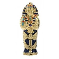 King Tut Coffin Jeweled Egyptian Gold Plated Box