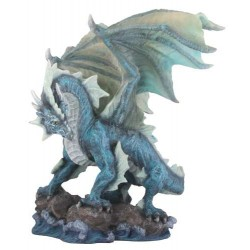 Water Dragon Blue Statue LABEShops Home Decor, Fashion and Jewelry