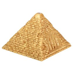 Golded Lighted Small Pyramid