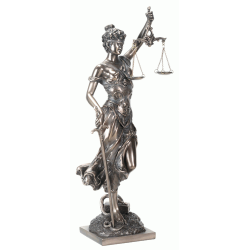 Lady Justice with Scales Bronze Statue LABEShops Home Decor, Fashion and Jewelry