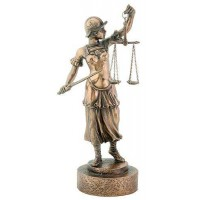 Lady Justice with Scales Warrior Bronze Statue