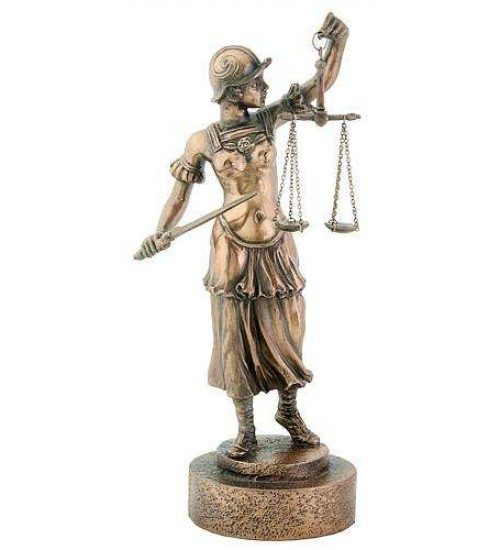 Lady Justice with Scales Warrior Bronze Statue at LABEShops, Home Decor, Fashion and Jewelry