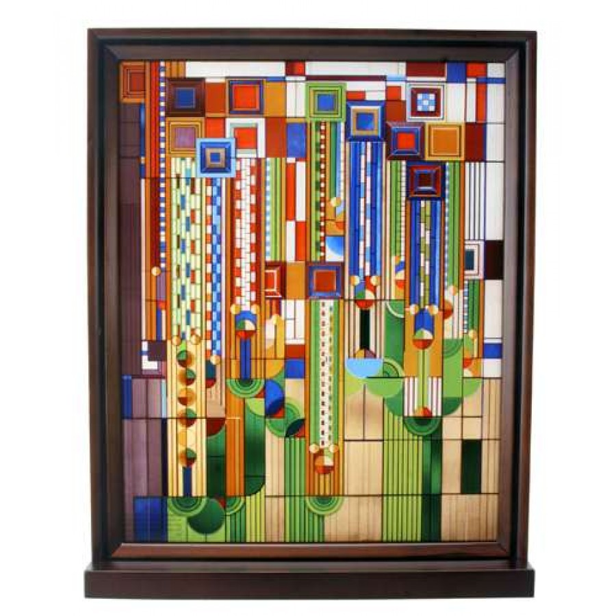 Delicieux Saguaro Forms Cactus Flowers Frank Lloyd Wright Art Stained Glass