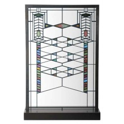 Frank Lloyd Wright Robie Art Stained Glass Panel LABEShops Home Decor, Fashion and Jewelry