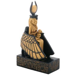 Isis Nursing Horus in Winged Throne Statue LABEShops Home Decor, Fashion and Jewelry