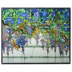 Tiffany Wisteria Art Glass Window Reproduction LABEShops Home Decor, Fashion and Jewelry