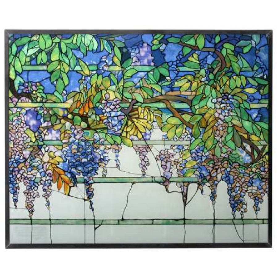 Tiffany Wisteria Art Glass Window Reproduction At LABEShops, Home Decor,  Fashion And Jewelry