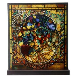 Tiffany Autumn Art Stained Glass Window Reproduction LABEShops Home Decor, Fashion and Jewelry