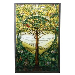 Tiffany Tree of Life Art Glass Window Reproduction LABEShops Home Decor, Fashion and Jewelry