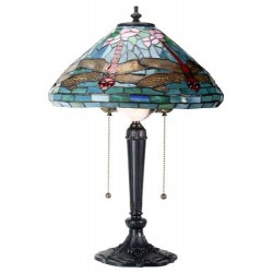 Dragonfly Tiffany Reproduction Art Glass Lamp LABEShops Home Decor, Fashion and Jewelry