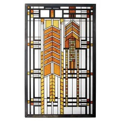 Autumn Sumac Frank Lloyd Wright Stained Glass Art LABEShops Home Decor, Fashion and Jewelry