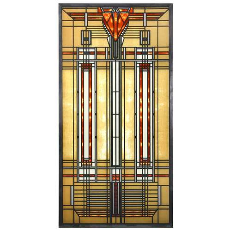 Bradley House Skylight Frank Lloyd Wright Stained Glass Art