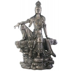 Kuan-Yin Water and Moon Goddess Statue LABEShops Home Decor, Fashion and Jewelry