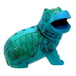 Egyptian Blue Hippo Mini Statue LABEShops Home Decor, Fashion and Jewelry
