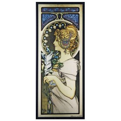 Feather Alphonse Mucha Stained Glass Art Panel LABEShops Home Decor, Fashion and Jewelry