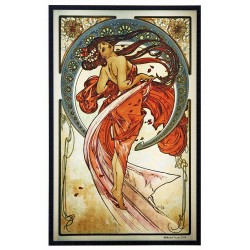 Arts Dance Alphonse Mucha Stained Glass Art Panel LABEShops Home Decor, Fashion and Jewelry