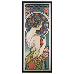 Primrose Alphonse Mucha Stained Glass Art Panel LABEShops Home Decor, Fashion and Jewelry