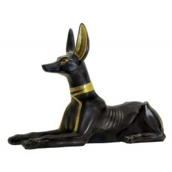 Anubis Egyptian God as Jackal Large Statue