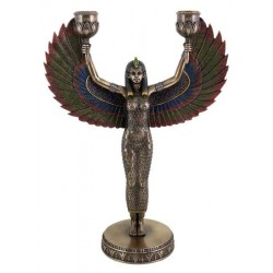 Winged Isis Egyptian Bronze Candle Holder LABEShops Home Decor, Fashion and Jewelry