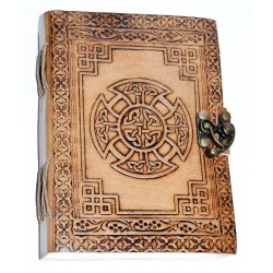 Celtic Cross Leather Blank 7 Inch Journal with Latch