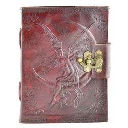 Fairy Moon 8 Inch Leather Journal with Latch