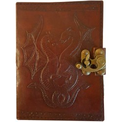 Double Dragon Leather Journal with Latch LABEShops Home Decor, Fashion and Jewelry