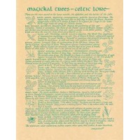 Magical Trees In Celtic Lore Parchment Poster
