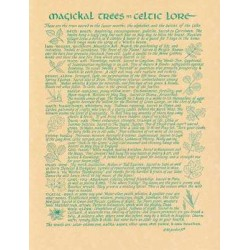 Magical Trees In Celtic Lore Parchment Poster LABEShops Home Decor, Fashion and Jewelry