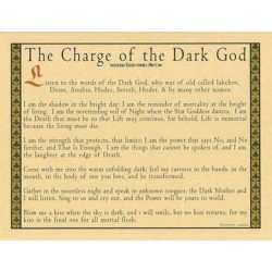 Charge of the Dark God Parchment Poster LABEShops Home Decor, Fashion and Jewelry
