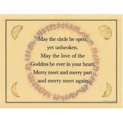 Circle Blessing Parchment Poster LABEShops Home Decor, Fashion and Jewelry