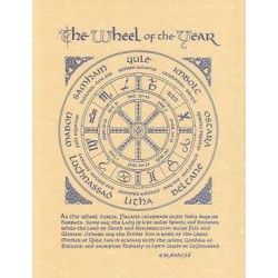 The Wheel of the Year Parchment Poster LABEShops Home Decor, Fashion and Jewelry