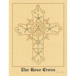 The Rose Cross Hermetic Parchment Poster LABEShops Home Decor, Fashion and Jewelry
