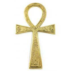 Ankh - Large Brass Egyptian Ankh 6.5 Inches LABEShops Home Decor, Fashion and Jewelry