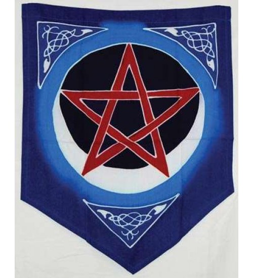 Pentacle Moon Pennant at LABEShops, Home Decor, Fashion and Jewelry