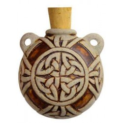 Celtic Knot Clay Oil Bottle Necklace LABEShops Home Decor, Fashion and Jewelry