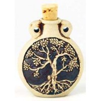 Tree of Life Oil Bottle Necklace