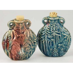 Wolf Raku Oil Bottle Necklace LABEShops Home Decor, Fashion and Jewelry