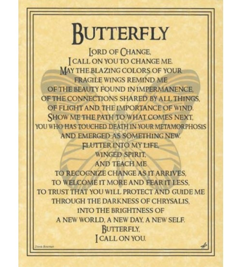Butterfly Animal Spirit Parchment Poster