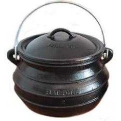 Potjie Cast Iron Flat Pot - 2 Quart Size 1/2 LABEShops Home Decor, Fashion and Jewelry