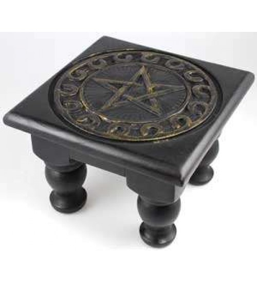 Pentacle Carved Wood Altar Table at LABEShops, Home Decor, Fashion and Jewelry