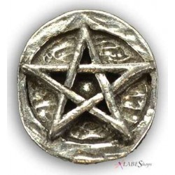 Pentagram Pewter Pocket Charm LABEShops Home Decor, Fashion and Jewelry